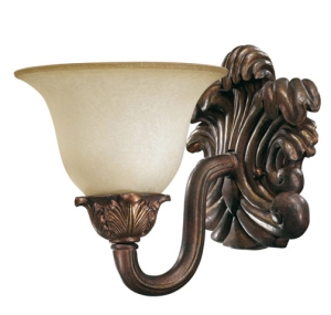 #4 Quorum oxidized copper wall mount sconce