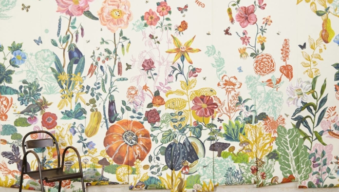 Wild for spring decoratebetter for Anthropologie wallpaper mural