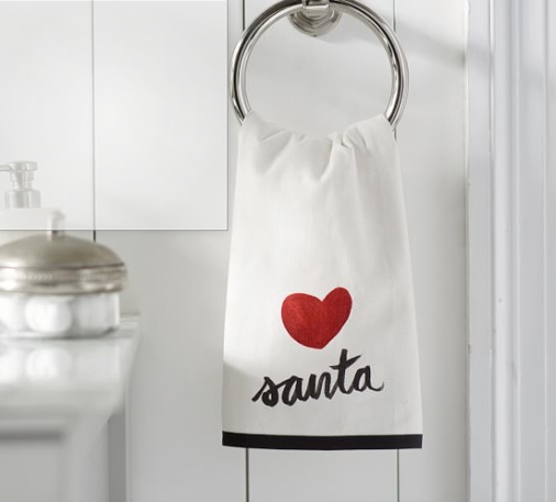 #2 JPEG Heart Santa guest towel, potterybarn.com