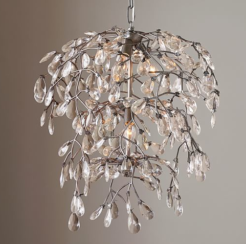 Bella Flushmount Chandelier: Trending Now–Nature Shows Its Glamorous Side