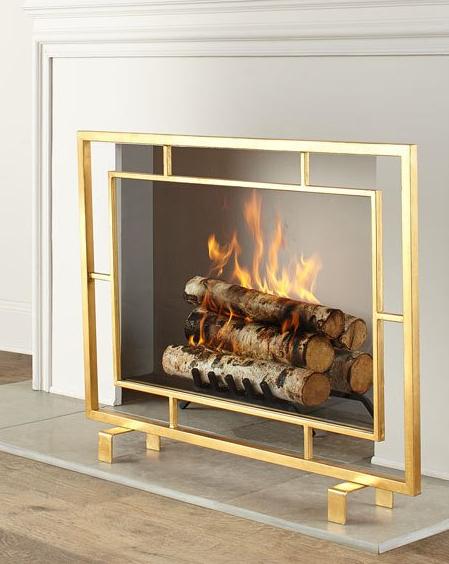 Stylishly Sensible—Decorative Fireplace Screens